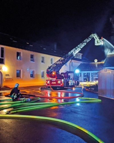 Feuer im Josia-Zentrum