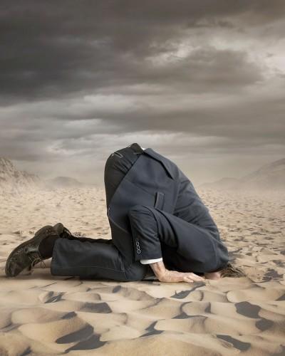 Raus mit dem Kopf aus dem Sand
